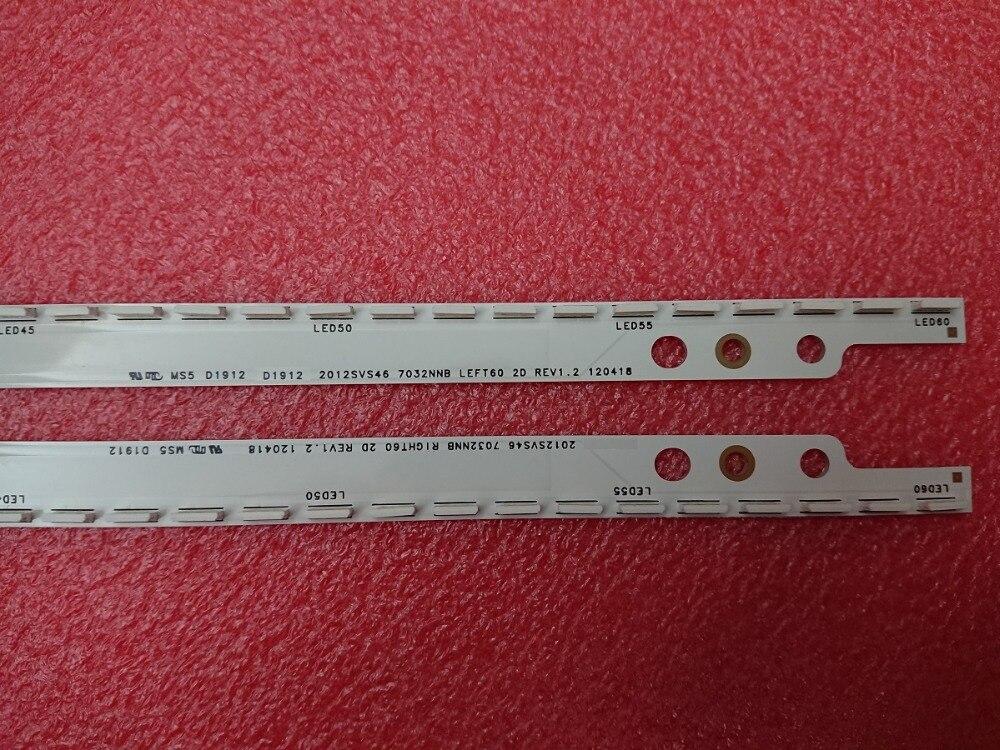 Girls' Clothing New 5set=10 Pcs 60led 572mm Led Backlight Strip For Samsung Ue46es5500 Sled 2012svs46 7032nnb Right60 Left60 2d