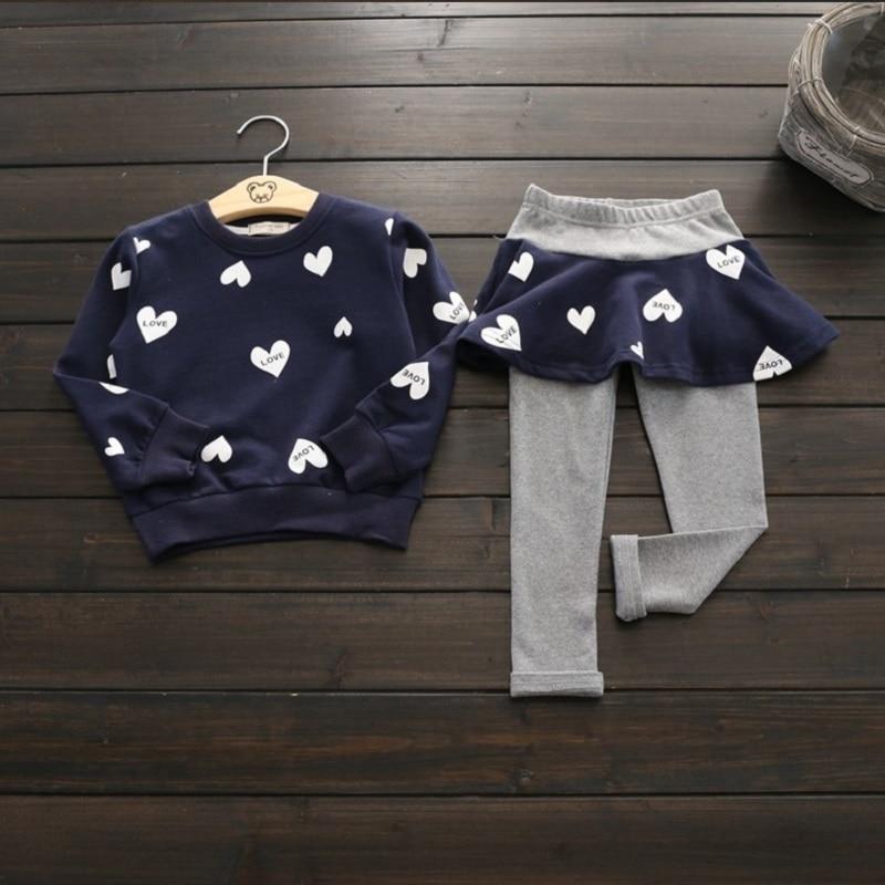 Toddler Girls Clothing Sets Autumn Winter Children Girls Clothes T shirt Leggings Pants Christmas Outfits Kids Girls Sport Suit