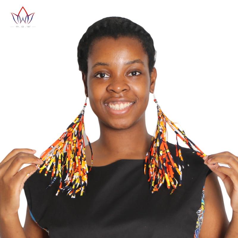 2017 kuuma myynti afrikkalainen muoti tassel korvakoru Boho tyyli käsintehdyt korvakorut perinteinen värikäs korvakorut korut WYB129