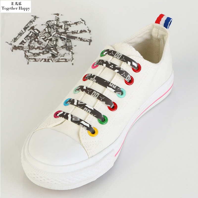 16Pcs/Set Silicone Shoes Lace Elastic Silicone Lazy No Tie New Fashion Desigin Flower Shoelaces For Sport Shoes Sneaker Shoelace 16pcs set high quality innovation lazy elastic silicone lace men and women universal free shoes with all the shoes th xdy