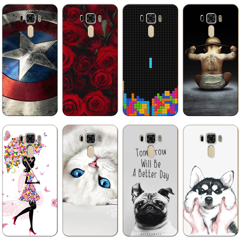 Cellphones & Telecommunications Selfless Good Quality Colorful Cases For Asus Zenfone 3 Lite Ze520kl Z017d Printing Drawing Phone Girls Cover Silicone Soft Case