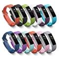 Новый TPE Браслет Ремешок Браслет с Безопасный Затвор Высокое Качество Металлическими Зажимами для Fitbit Альта Полос Наручные Smartwatch BD01