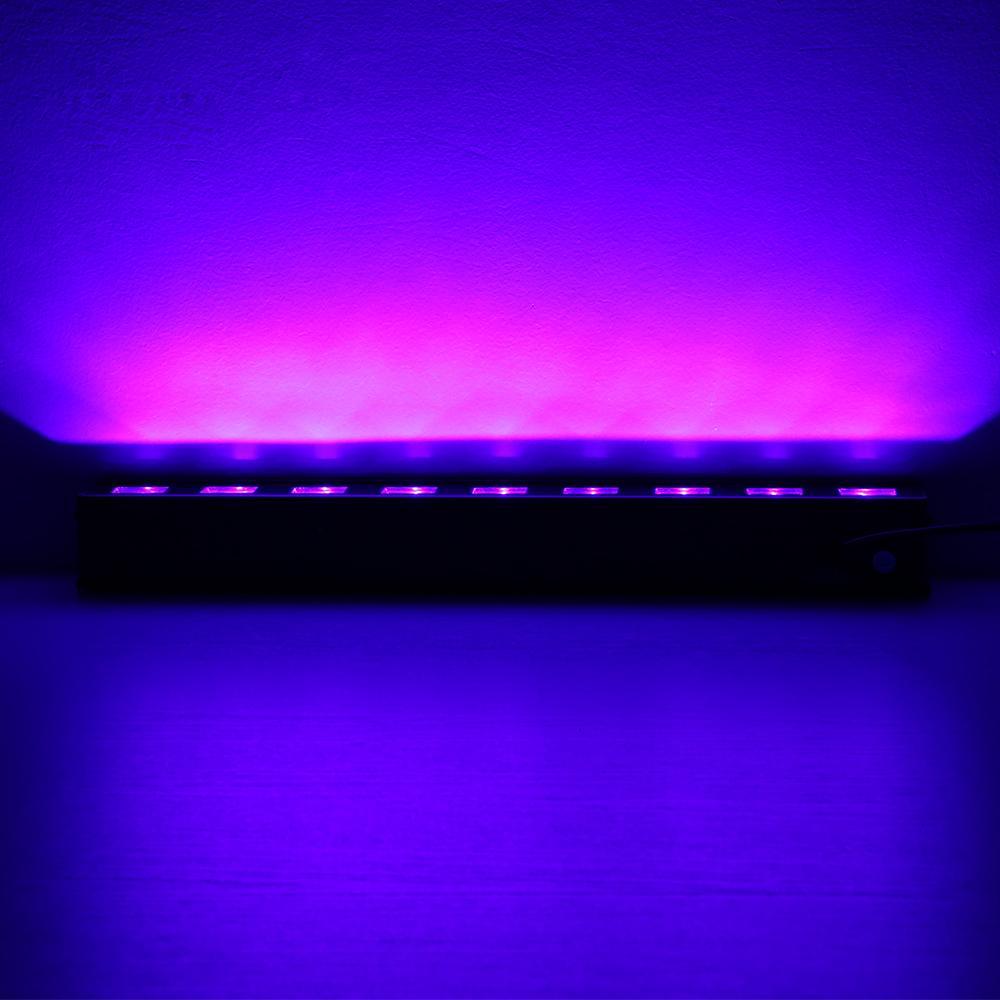 10X Rasha New Arrival 18W 6*3W UV LED Wall Washer Light LED Wall Light DJ Party Light Stage Disco Pixel UV Light For Xmas Event