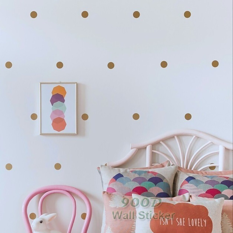 Aliexpress.com : Buy Gold Polka Dots Wall Sticker Wall Decal, Removable  Home Decoration Art Wall Decor Free Shipping From Reliable Sticker Wall  Decal ... Part 46
