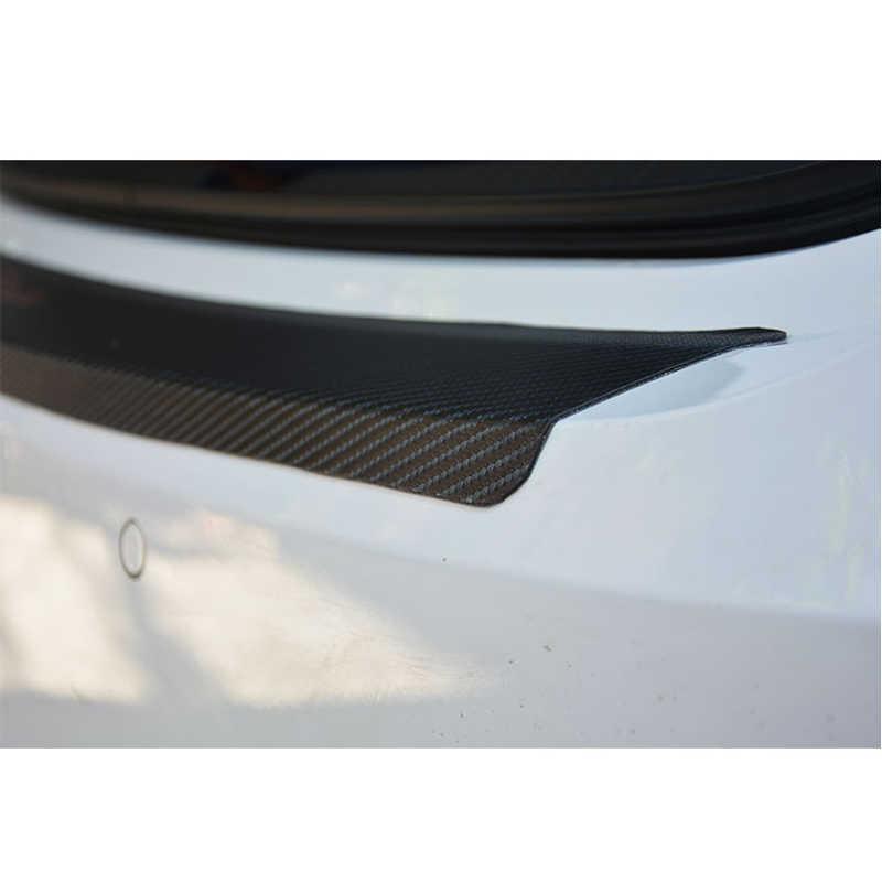 Для сиденья Ibiza искусственная кожа углеродное волокно Стайлинг после охраны задний бампер багажник Пластина Автомобильные аксессуары