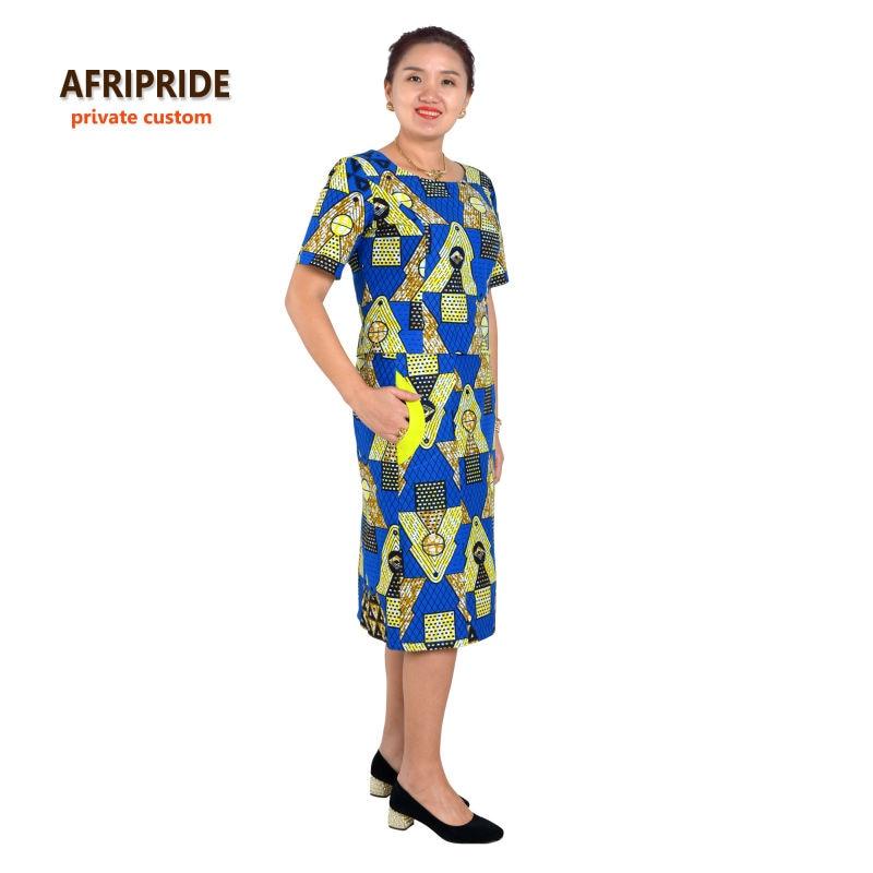 Saman gaya 2-bahagian Afrika untuk wanita AFRIPRIDE separuh lengan - Pakaian kebangsaan - Foto 1