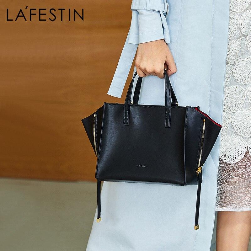 لا FESTIN العلامة التجارية حقائب للنساء 2018 جديد حقائب كتف Crossbody أكياس حقيبة يد جلدية شكل يمكن تغييرها رائع تصميم-في حقائب قصيرة من حقائب وأمتعة على  مجموعة 1