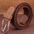 Men's canvas belt woven belt Ms. pin buckle elastic stretch belt male Korean leisure wild tide
