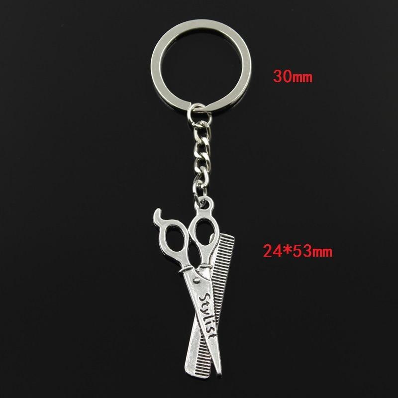 მოდის 3cm Key Ring Metal Key Chain Keychain - მოდის სამკაულები - ფოტო 2