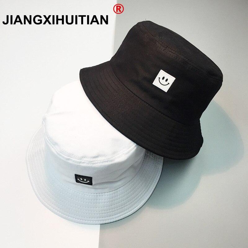 1b8c06661c6 New Summer Hat Women Mens Panama Bucket Hat Smile Face Design Flat Sun  Visor Fishing Fisherman