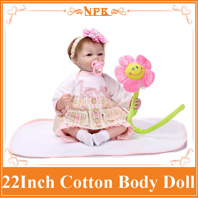 Free Shipping 52cm 22 inch latest silicone reborn baby doll toys, play house reborn bebe baby toy birthday gift girls brinquedos baby toys early developmental plaything brinquedos bebe eletronicos action animis free shipping 366c