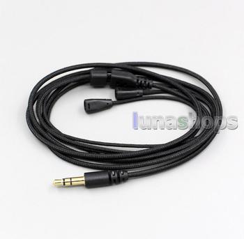 LN002838 For 100pcs 1.2m Custom Handmade Cable For Sennheiser IE8 IE80 earphone headset Net shield
