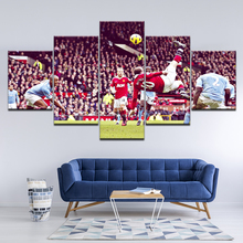 Canvas Painting Wayne Rooney overhead kick 5 Pieces Wall Art Painting Modular Sport Wallpapers Poster Print  Home Decor rooney s conversations with friends м rooney