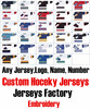 Custom Any Hockey Jerseys With Any Name Number Replica Home Away Mens Woman Youth Embroidery Tackle