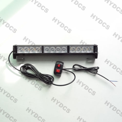 CYAN SOIL BAY 14 12 LED Emergency Warning Traffic Advisor 12W Strobe Light Bar Lamp Red White Amber Blue
