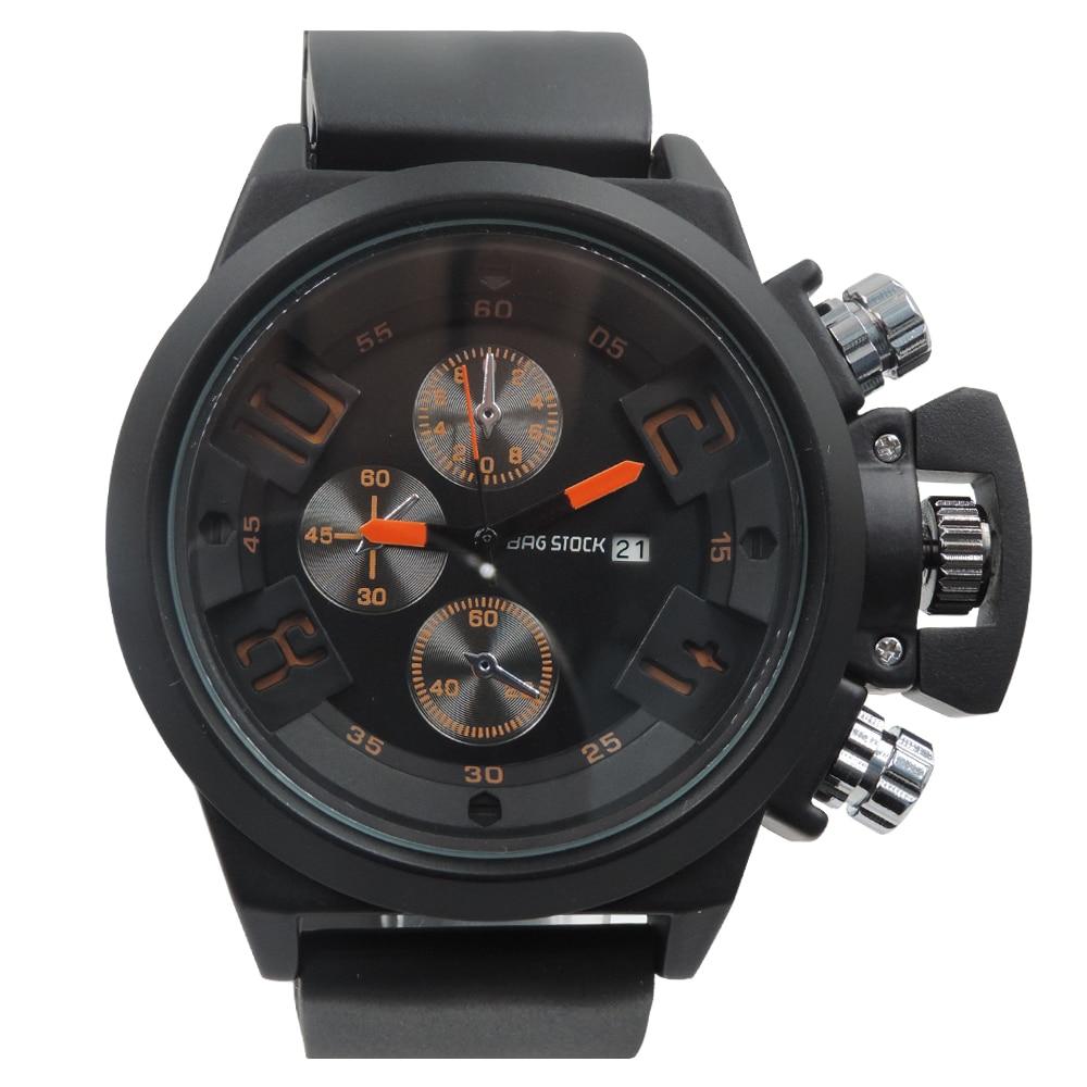 2017 Auto Date 30M Waterproof Rubber Sport Watch Men Cool Big Dial Clock Men s Wristwatch
