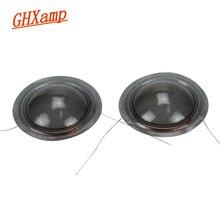Звуковая катушка высоких частот GHXAMP 2 шт., 25,5 мм, 1 дюйм, 8 Ом, аксессуары для ремонта динамиков, высокочастотная звуковая полупрозрачная шелковая мембрана, диафрагма «сделай сам»
