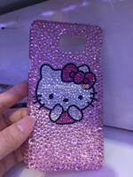 For Samsung Galaxy S3 S4 S5 S6 S7 Edge S8 S9 Plus Note 2 3 4 5 8 9 G530 Full Rhinestone Case Red Big Diamond Cover