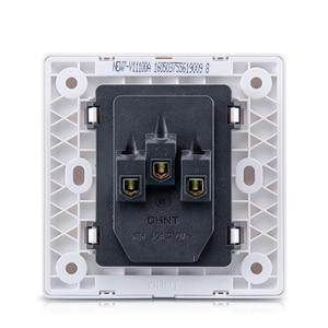 Image 3 - Enchufe de pared eléctrico para Xiaomi, placa frontal eléctrica AC250V 10A, 5 pines, toma de carga de 86x86mm, color blanco puro