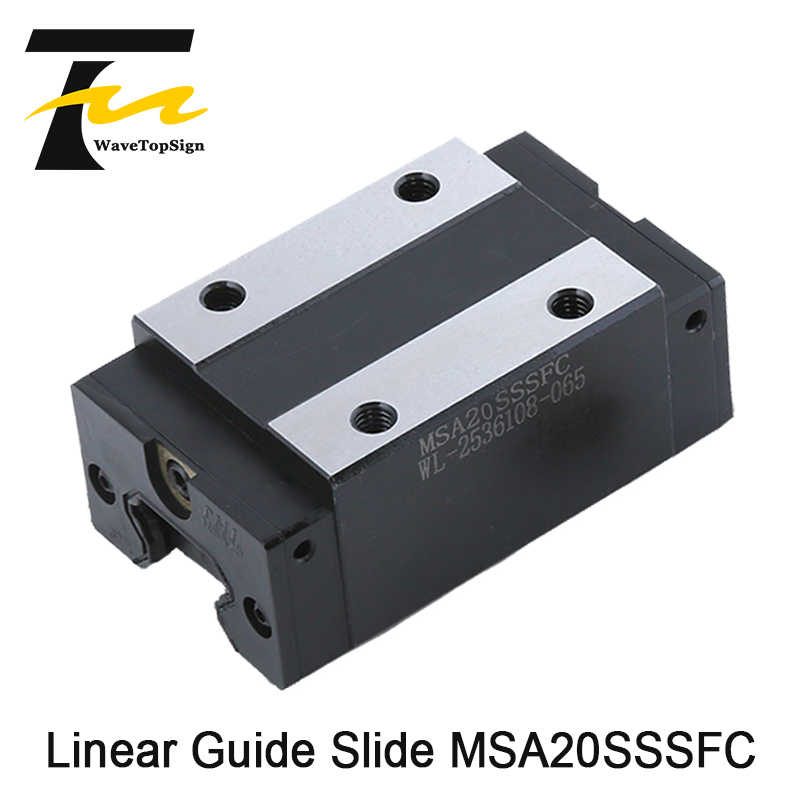 WaveTopSign PMI Linear Guide Slide Carriage Block MSA20S MSA20SSSFC High Accuracy No Nise use for Linear Rail CNC Diy Parts
