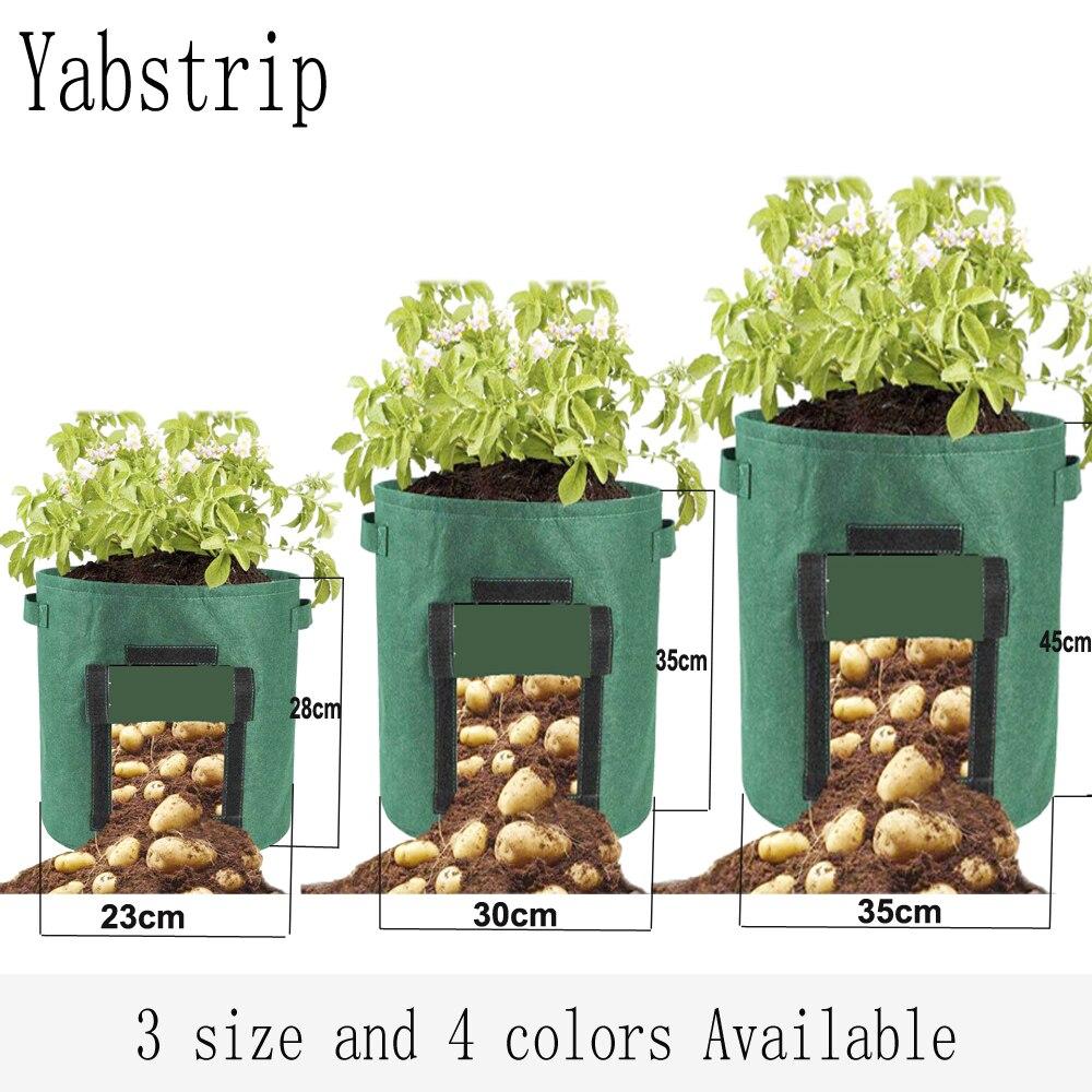 Ev ve Bahçe'ten Bitki Torbaları'de Bitki büyüme çanta ev bahçe patates sera sebze bitki dikme çantası nemlendirici jardin dikey bahçe çanta büyümek fide title=