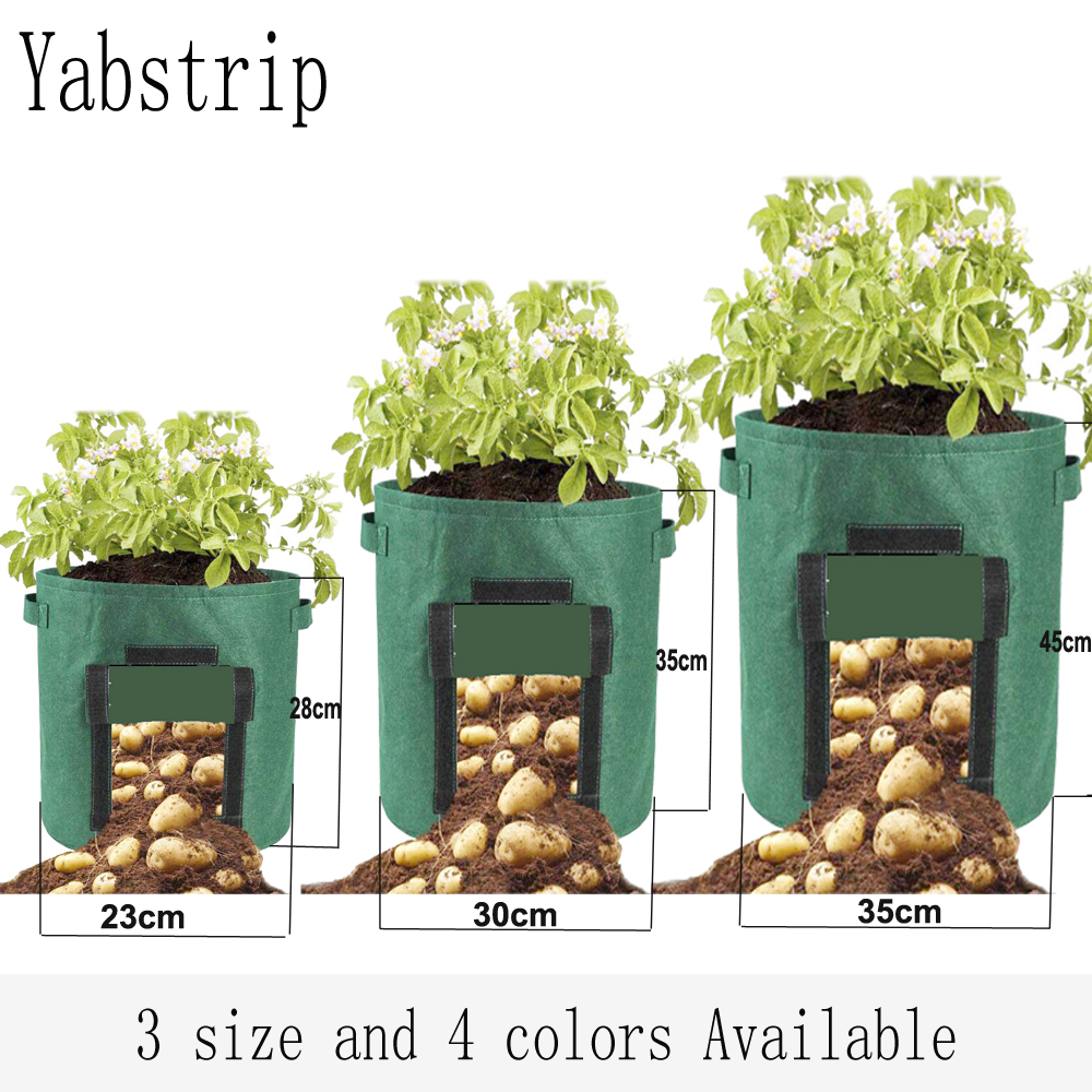 Plant Growth Bag Home Garden Potato Greenhouse Vegetable Planting Bag Moisturizing Jardin Vertical Garden Grow Bag Seedling Pot
