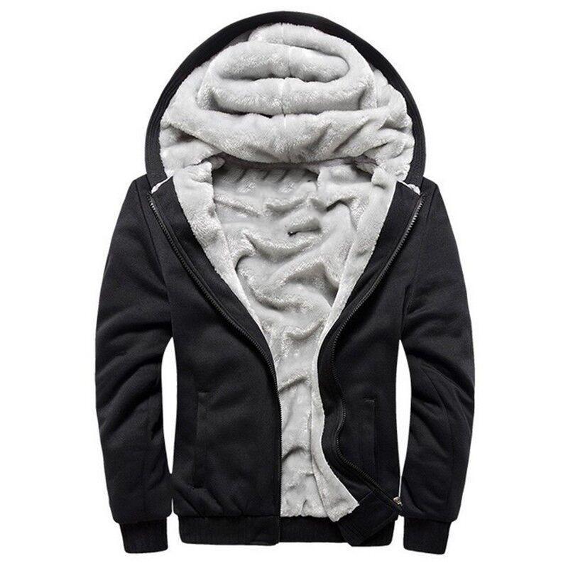 Hoodies Männer Mit Kapuze Beiläufige Wolle Winter Verdickte Warmen Mantel Männlichen Samt Männlichen Sweatshirts Mantel Reißverschluss Strickjacke Hoody Mann Kleidung