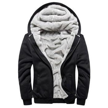 51eb83c0f Hoodies Men Hooded Casual Wool Winter Thickened Warm Coat Male Velvet Male  Sweatshirts Coat Zipper Cardigan Hoody Man Clothing