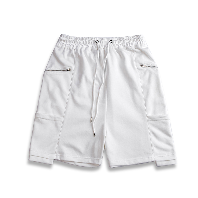 H.A. Sueno 2018 new Solid candy color men's shorts fashion high hop knee length shorts with zippers drop shipping support