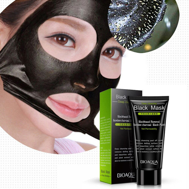 Charcoal Mask To Clear Pores And Detox Skin: BIOAQUA Bamboo Charcoal Julep Black Mask Face Skin Care