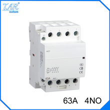 Din rail household AC contactor  63A  4NO 220V/230V Household contact module Din Rail Modular contactor