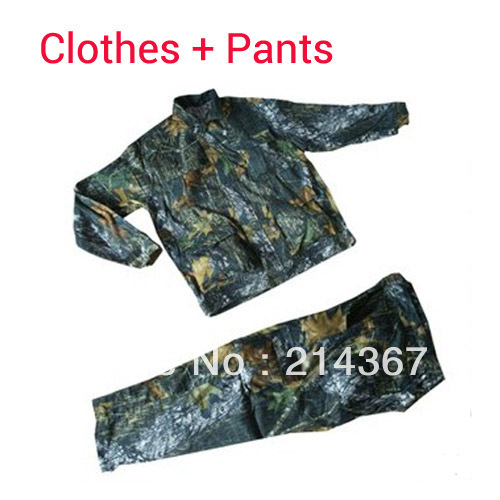 Leaf Bionic Camo Outdoor Clothes and trousers for Hunting Safari CS War Game Swear Clothes Free Ship protective outdoor war game military skull half face shield mask black