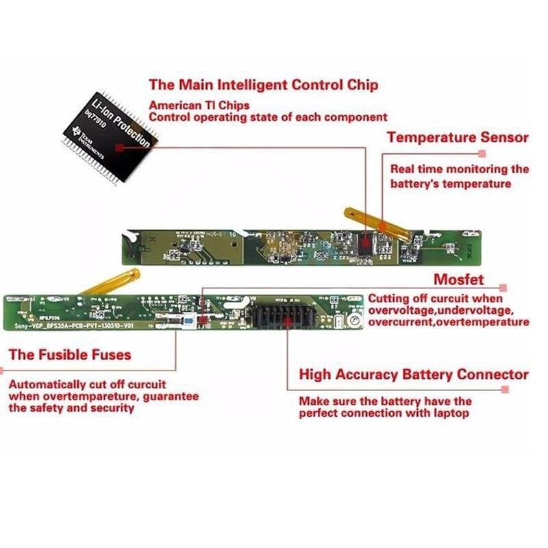 Batería de portátil HSW para HP EliteBook 2530p 2540p, para - Accesorios para laptop - foto 6