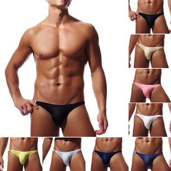 Men's Sexy Brief Breathable Ultra Thin Smooth Brief Summer Brief U Convex Underwear 8 Colors фото