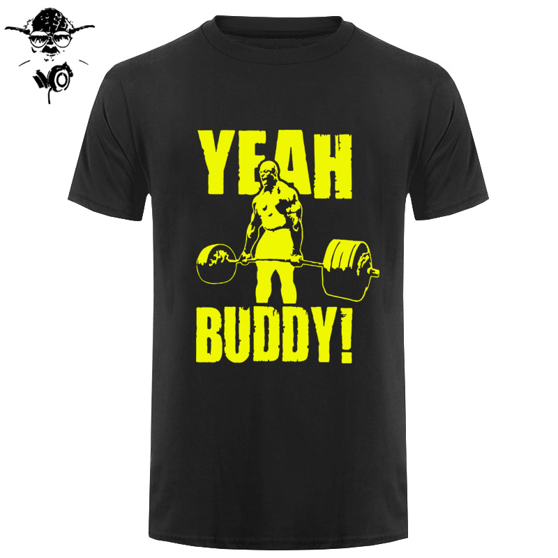 Man   T     Shirt   Yeah Buddy Ronnie Coleman Body Building Casual Short Sleeve Tee   Shirt   Round Neck clothing 100% Cotton Print   T  -  Shirt