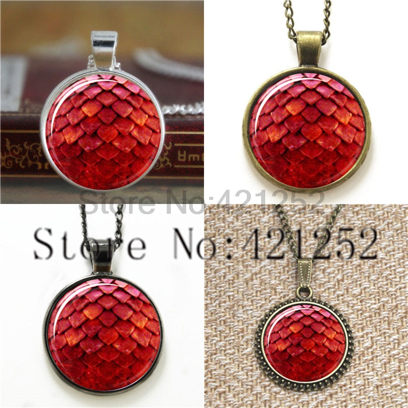 Red Dragon Pendant Dragon Inspired by Game of Thrones Glass Photo Cabochon Necklace keyring bookmark cufflink earring
