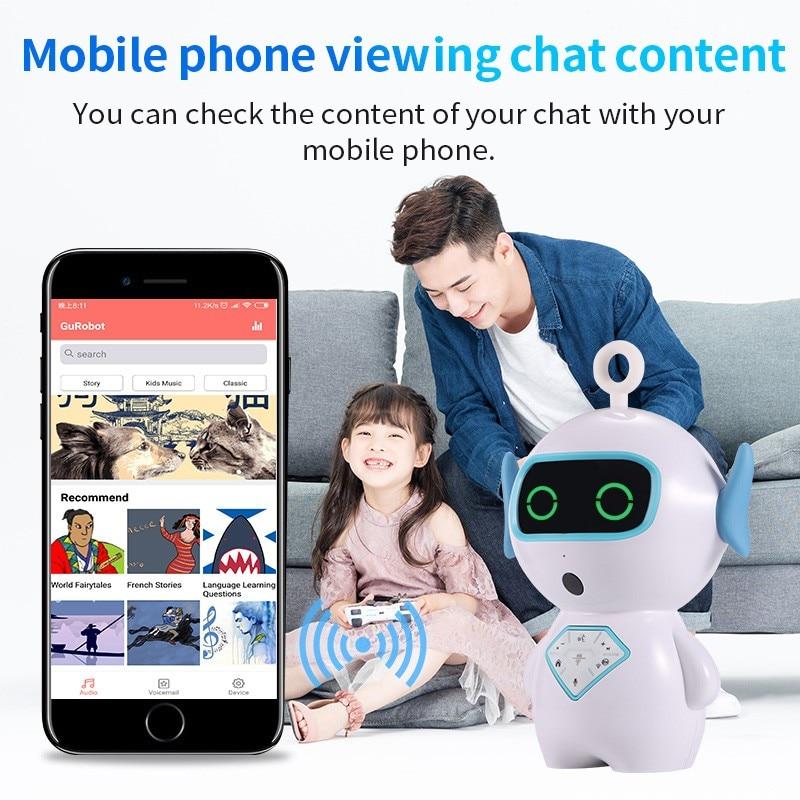 Robot enfants Wifi histoire machine dialogue vocal AI compagnon robot chien - 5