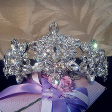 Bride Tiaras and Crown Wedding Accessories White Rhinestone Bride Bridesmaid Jewelry tiaras and crowns