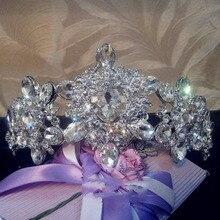 Tiaras y Corona de La Boda Accesorios de novia Blanco Rhinestone Novia Dama de Honor de la Joyería de las tiaras y coronas