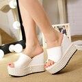 Tamanho 31-39 sandálias de salto alto sandálias cunhas femininos sapatos plataforma mulheres chinelos de dedo aberto sy-1803