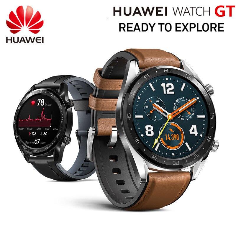 Montre intelligente d'origine HUAWEI GT Sport montre 1.39 ''rapport de coeur moniteur de sommeil AMOLED écran GPS Smartwatch 14 jours en veille