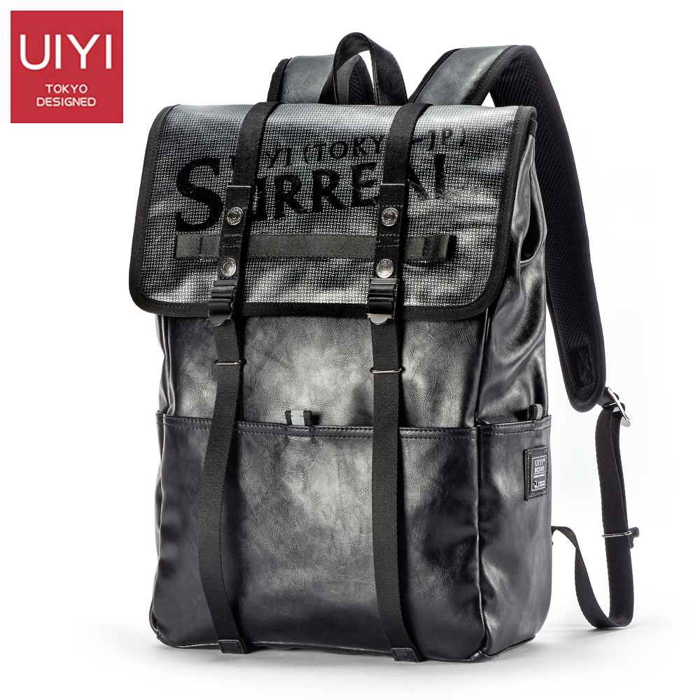 UIYI Men backpacks leather pu Boys school bag Laptop bag men Travel Shoulder Back bag Drop Shipping Men's backpack #UYB7052 цены онлайн