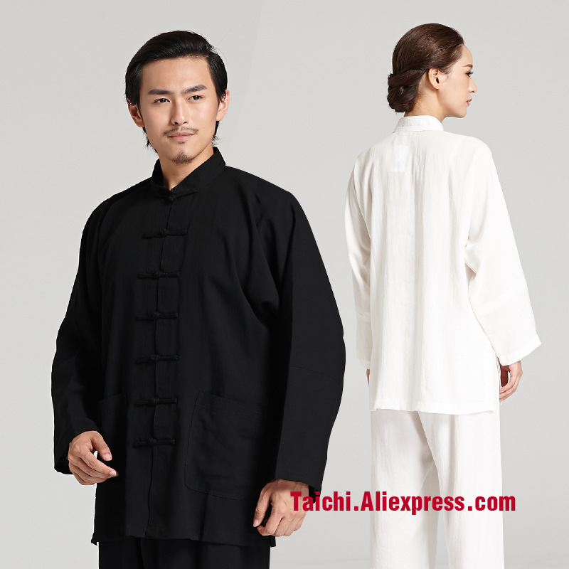 Flax Tai Chi Uniform Taiji Boxing Performance Clothing Linen Kung Fu  Suit  Wing Chun Uniform Chinese Style Unifrom