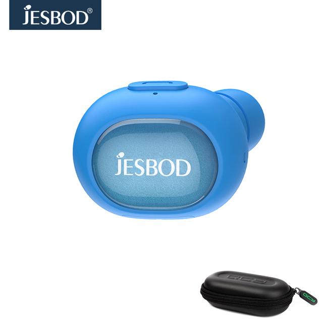 Sistemas de la CAJA de combinación portable Q26 Jesbod mini coche llamadas MICRÓFONO inalámbrico bluetooth fone de ouvido auriculares con Caja De Almacenamiento