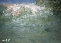 3m X 6m Hand Painted Artist Muslin Photographers Backdrops Froest And Castle Studio Background Super Studio