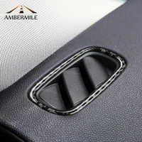 AMBERMILE Carbon Fiber for Mini Cooper Countryman F60 Accessories Car Dashboard Air Outlet Vent Frame Trim Decoration Stickers