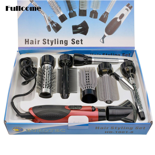 7 in 1 110V-240V Professional Hair Dryer Hair Blow Dryer Mini Hairdryer With 7 Attachment Comb Nozzles for Home Hotel -S4646