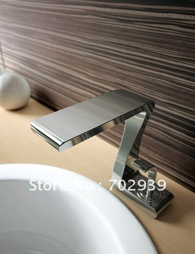 Уникальная форма умывальник раковина водопад кран с одной ручкой Ванная комната кран