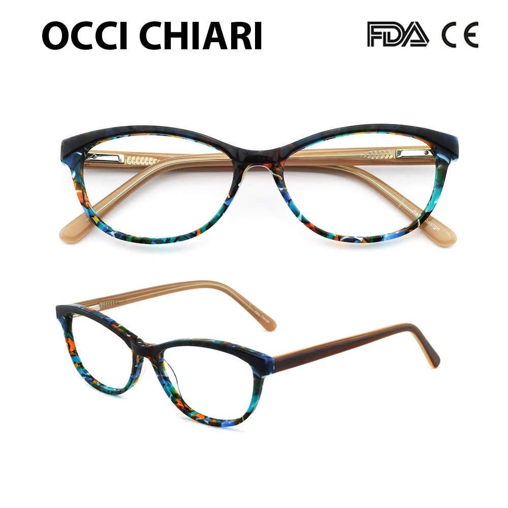 d0b67e60cb OCCI CHIARI Brand Designer eyeglasses Radiation protection Prescription  Nerd Lens Medical Women Optical Glasses Frame PANA