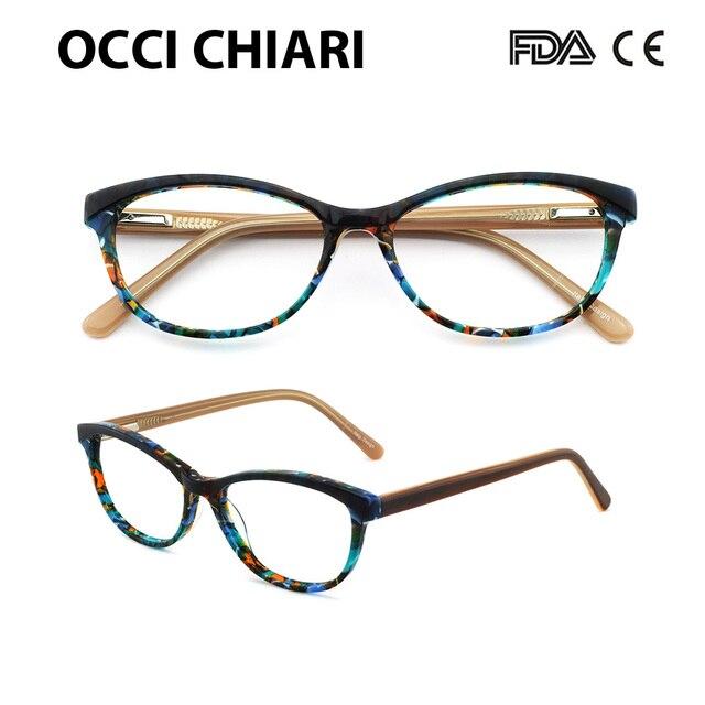 58da04a5380 OCCI CHIARI Brand Designer eyeglasses Radiation protection Prescription  Nerd Lens Medical Women Optical Glasses Frame PANA